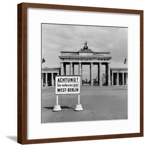 East-West Berlin Border 1961-Terry Fincher-Framed Art Print