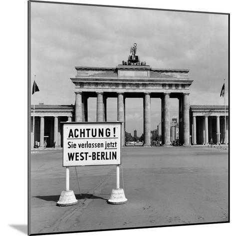 East-West Berlin Border 1961-Terry Fincher-Mounted Photographic Print
