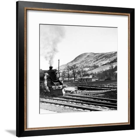Steam Train Leaving Blair Atholl, 1947-Staff-Framed Art Print