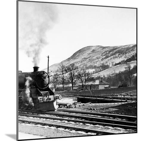 Steam Train Leaving Blair Atholl, 1947-Staff-Mounted Photographic Print