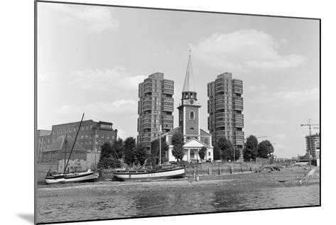 View across the Thames at Battersea. 21st August 1971-Staff-Mounted Photographic Print