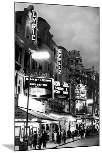 Theatre's of London's West End, 1967-Staff-Mounted Photographic Print