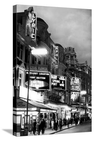 Theatre's of London's West End, 1967-Staff-Stretched Canvas Print
