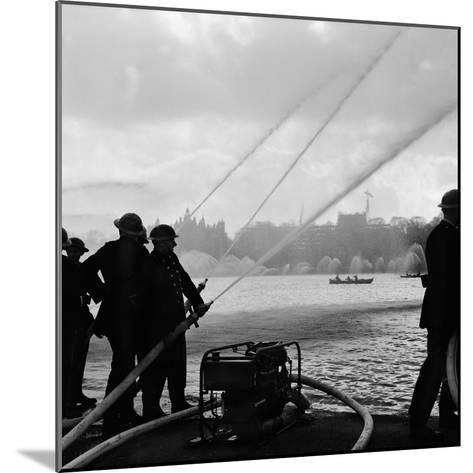 Auxiliary Fire Service exercise in Hyde Park, 1957-Ted Heanley M.B.E. D.F.C.-Mounted Photographic Print