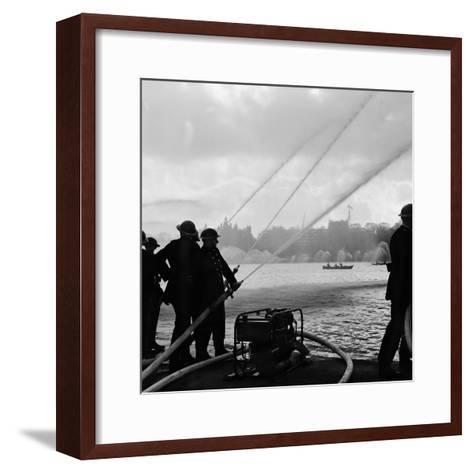 Auxiliary Fire Service exercise in Hyde Park, 1957-Ted Heanley M.B.E. D.F.C.-Framed Art Print