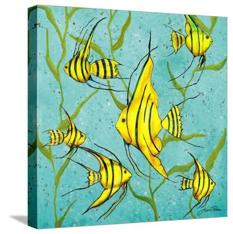 School of Fish III-Gina Ritter-Stretched Canvas Print