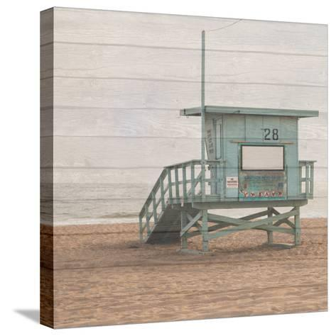 Life Guard White Wash-Susan Bryant-Stretched Canvas Print