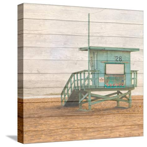 Lifeguard House on Wood-Susan Bryant-Stretched Canvas Print