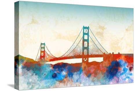 Golden Gate-Dan Meneely-Stretched Canvas Print