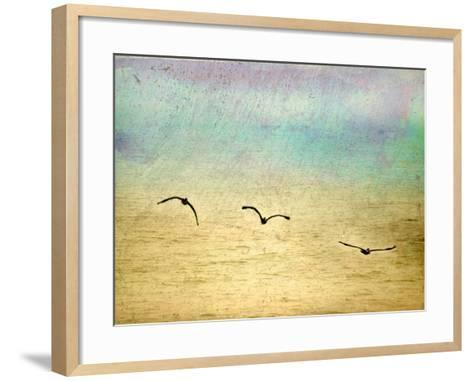Seagulls in the Sky II-Ynon Mabat-Framed Art Print