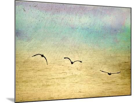 Seagulls in the Sky II-Ynon Mabat-Mounted Art Print