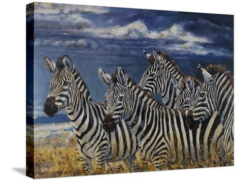 Zebras I-Peter Blackwell-Stretched Canvas Print