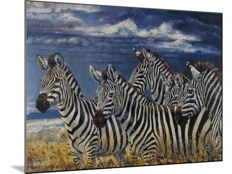 Zebras I-Peter Blackwell-Mounted Art Print