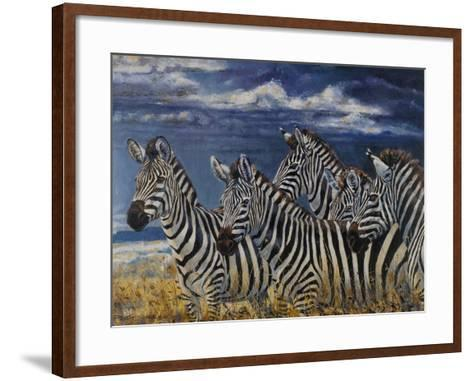 Zebras I-Peter Blackwell-Framed Art Print