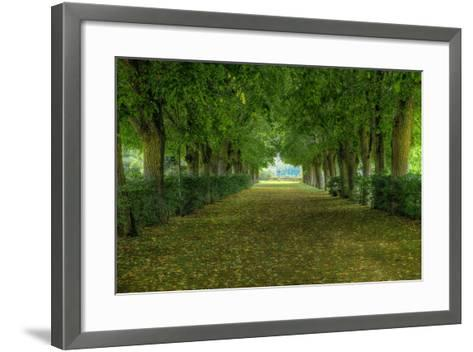 French Gardens-Shelley Lake-Framed Art Print