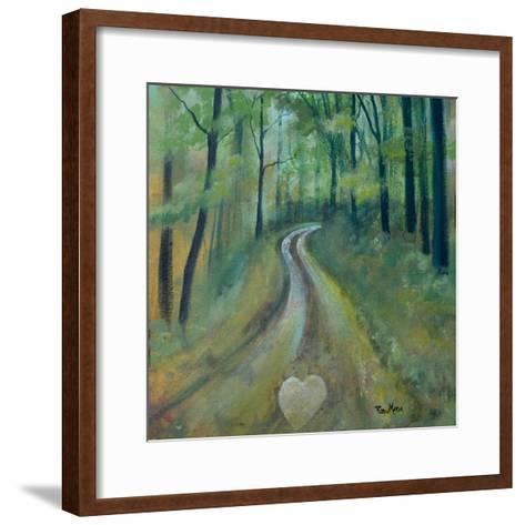Heart on the Path-Robin Maria-Framed Art Print