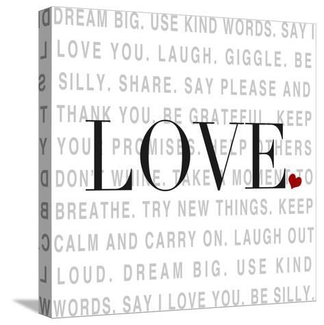 Love and Life I-SD Graphics Studio-Stretched Canvas Print