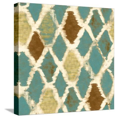 Teal Thatch II (Rotated)-Patricia Pinto-Stretched Canvas Print