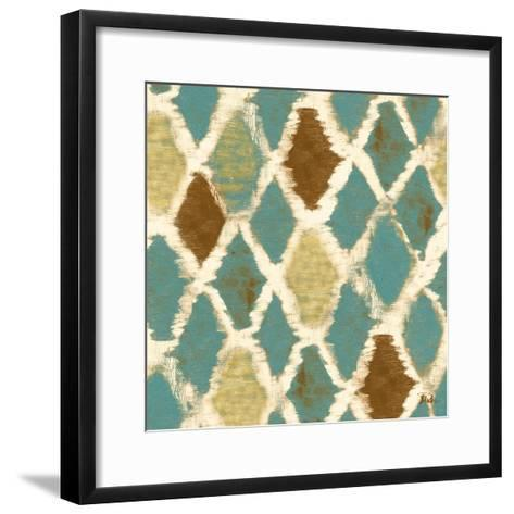 Teal Thatch II (Rotated)-Patricia Pinto-Framed Art Print