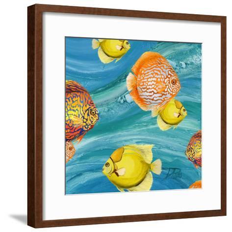 Aquatic Sea Life I-Patricia Pinto-Framed Art Print