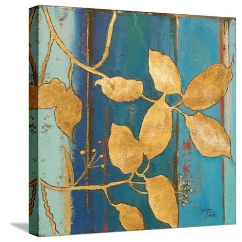 Golden Blue II-Patricia Pinto-Stretched Canvas Print