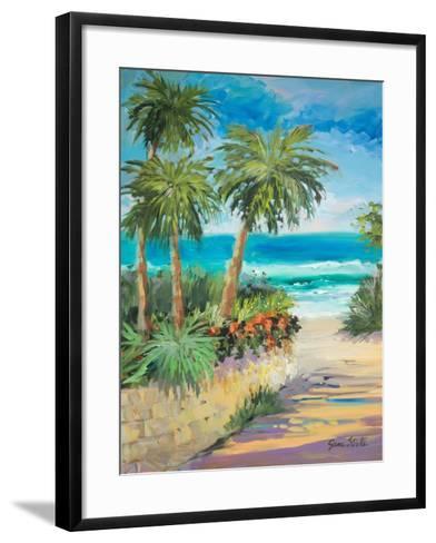 Palm Path-Jane Slivka-Framed Art Print