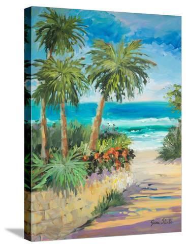 Palm Path-Jane Slivka-Stretched Canvas Print