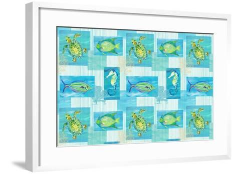 Sealife Rectangle V-Julie DeRice-Framed Art Print