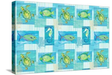 Sealife Rectangle V-Julie DeRice-Stretched Canvas Print