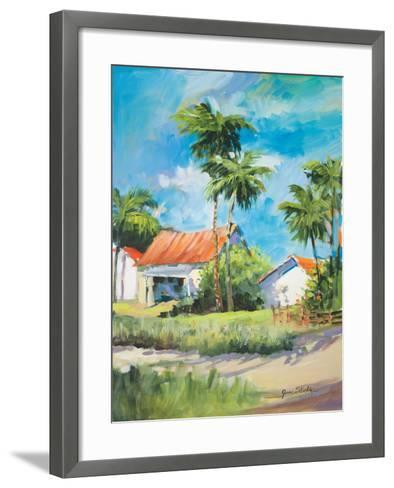 House on the Beach-Jane Slivka-Framed Art Print