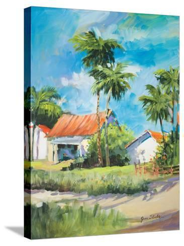 House on the Beach-Jane Slivka-Stretched Canvas Print