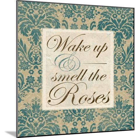 Wake Up and Smell the Roses-Elizabeth Medley-Mounted Art Print