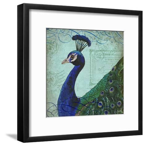 Parisian Peacock II-Elizabeth Medley-Framed Art Print