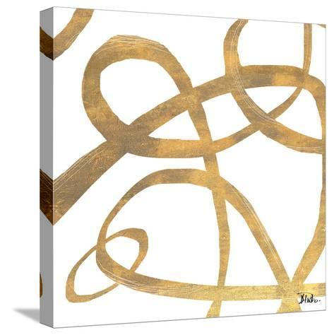 Golden Swirls Square II-Patricia Pinto-Stretched Canvas Print