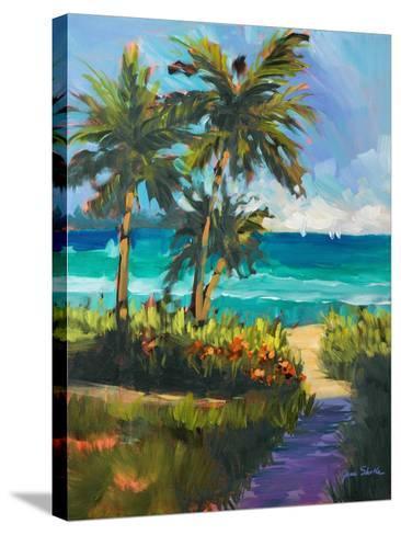 Caribbean View II-Jane Slivka-Stretched Canvas Print