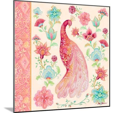 Pink Medallion Peacock I-Janice Gaynor-Mounted Art Print