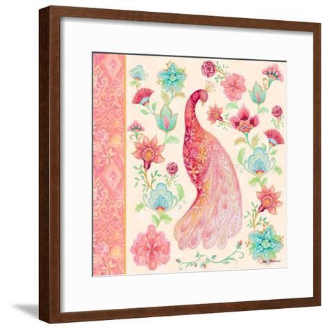 Pink Medallion Peacock I-Janice Gaynor-Framed Art Print