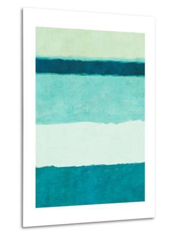 Rectangle Teal Blocks of Color II-SD Graphics Studio-Metal Print
