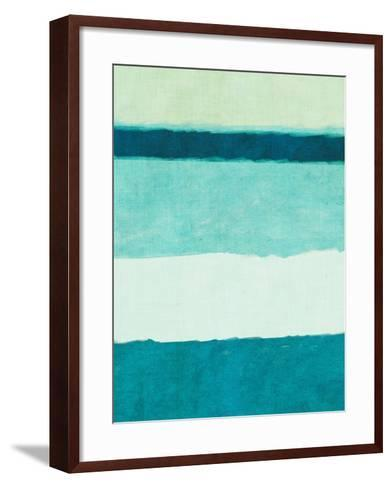 Rectangle Teal Blocks of Color II-SD Graphics Studio-Framed Art Print