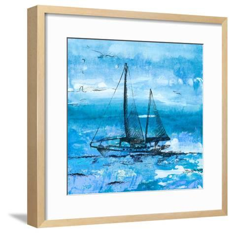 Coastal Boats in Watercolor II-Lanie Loreth-Framed Art Print