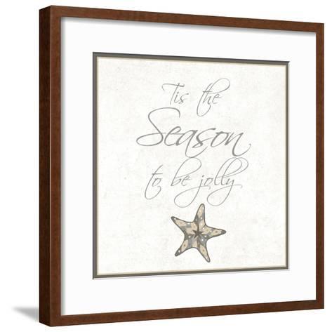 Silver Coast Christmas Square IV-Nicholas Biscardi-Framed Art Print