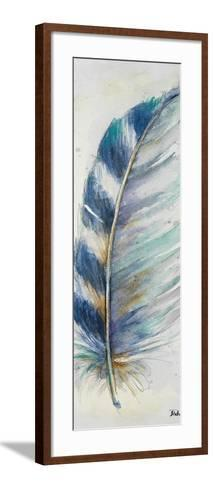 Watercolor Feather V-Patricia Pinto-Framed Art Print