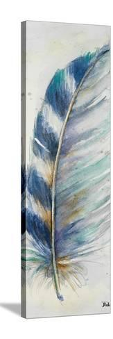 Watercolor Feather V-Patricia Pinto-Stretched Canvas Print