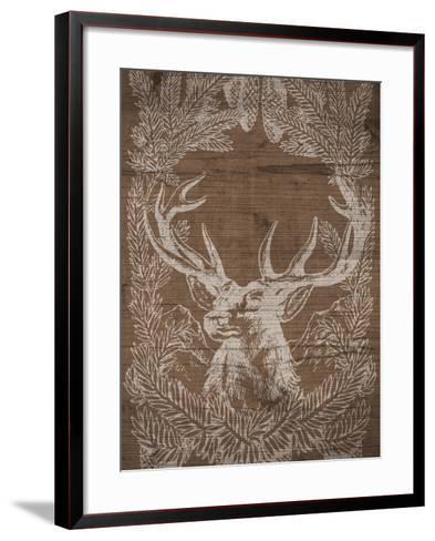 Holiday Deer-SD Graphics Studio-Framed Art Print