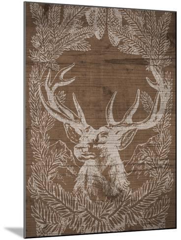 Holiday Deer-SD Graphics Studio-Mounted Art Print
