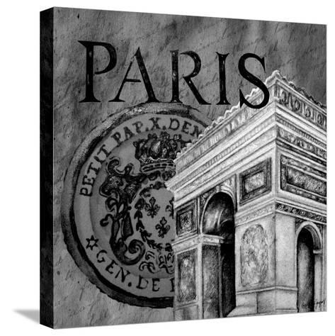 Parisian Wall Black IV-Janice Gaynor-Stretched Canvas Print