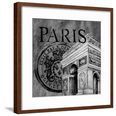Parisian Wall Black IV-Janice Gaynor-Framed Art Print