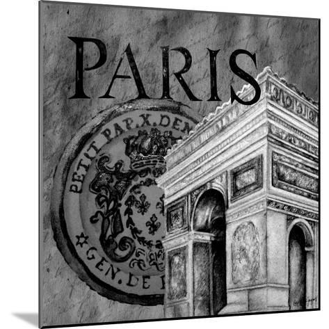 Parisian Wall Black IV-Janice Gaynor-Mounted Art Print