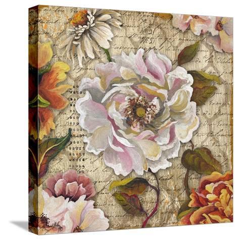 White Floral Inscription II-Elizabeth Medley-Stretched Canvas Print
