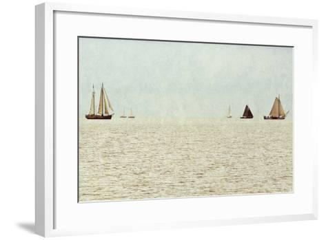 Sail Boats-Kathy Mansfield-Framed Art Print